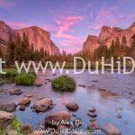 Yosemite lúc hoàng hôn
