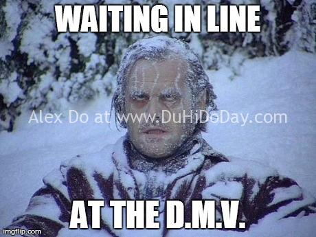 Ngồi đợi ở DMV