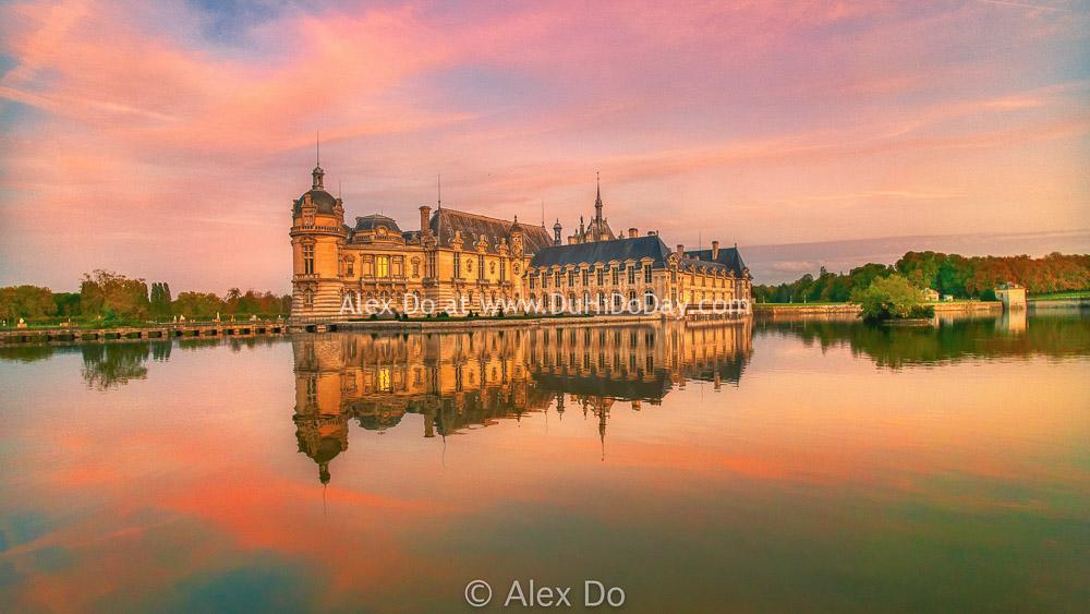 Hoàng hôn ở Chantilly Pháp